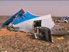 Egito nega evidências de ato terrorista em queda de avião russo
