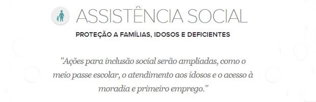Meta de assistência social do prefeito de Belo Horizonte, Marcio Lacerda (Foto: Arte/G1)