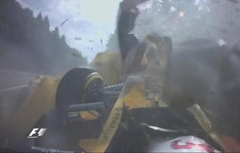 Acidente forte na Eau Rouge paralisa GP da Bélgica com bandeira vermelha