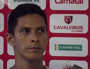 Cléo, atacante do América-RN (Foto: Tiago Menezes)