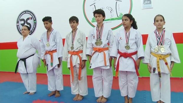 Karatecas conquistam índice para campeonato mundial  (Foto: Globo Esporte)