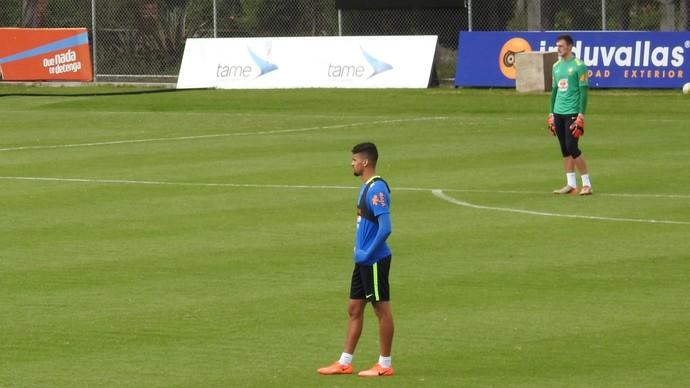 Léo Santos e Lucas Perri na seleção sub-20 (Foto: Lucas Loos / GloboEsporte.com)