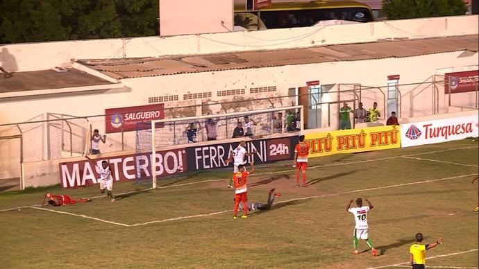 Salgueiro, gol, Willian Lira (Foto: Reprodução/ TV Grande Rio)