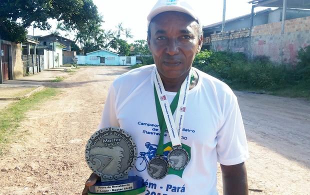 Amapaense é 4º colocado em Brasileiro de Ciclismo Master, no PA (Foto: Wellington Costa/GE-AP)