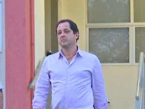 O empresário Júnior Mendonça, principal delator na operação Ararath, depôs na Delegacia Fazendária nesta quinta-feira. (Foto: Reprodução / TVCA)