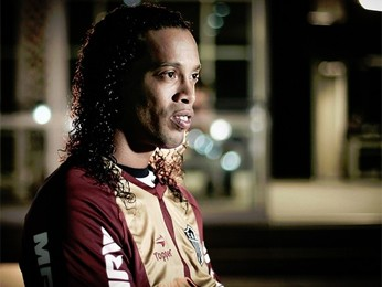 Ronaldinho Gaúcho vai ser 'Cidadão Honorário de Belo Horizonte'. (Foto: Bruno Cantini / Flickr do Atlético-MG)