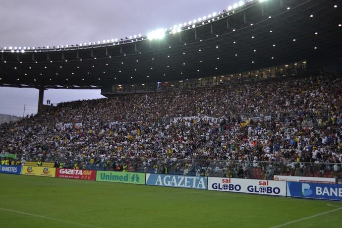 Estádio Kleber Andrade, na final do Capixabão 2015 (Foto: Sidney Magno Novo/GloboEsporte.com)