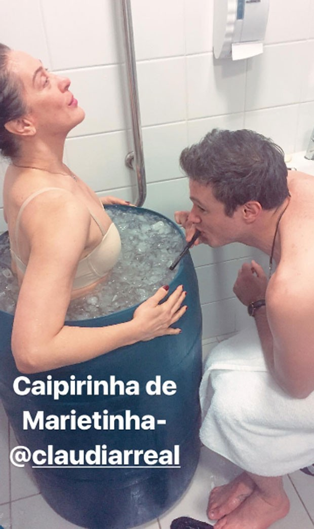 Claudia Raia e Reiner Tenente (Foto: Reprodução)