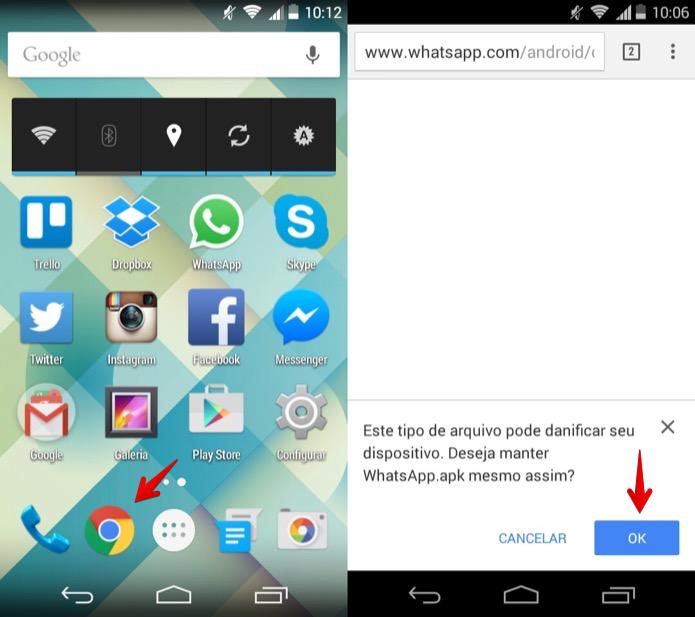 Baixe a última versão do aplicativo em seu aparelho (Foto: Reprodução/Helito Bijora)
