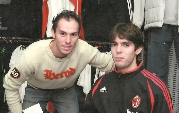 Renato Conceição ao lado de Kaká, em Malta  (Foto: Arquivo pessoal)