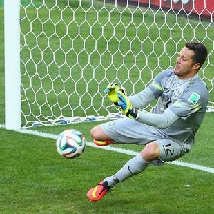 Julio Cesar brasil x chile (Foto: Getty Images)