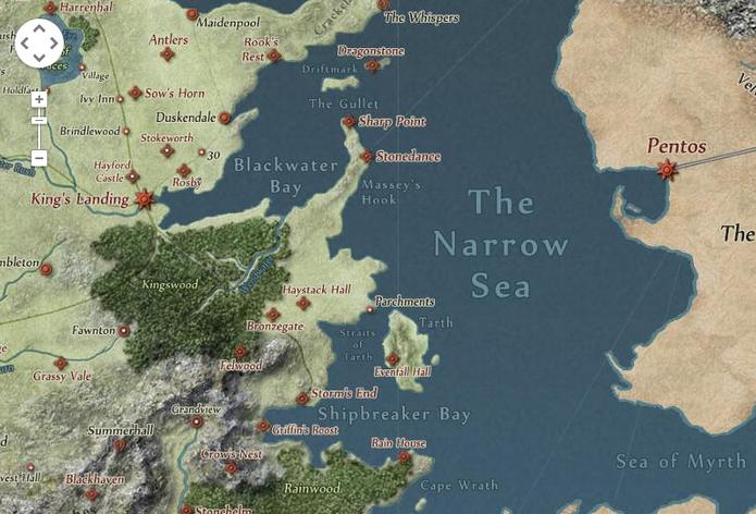 Game Of Thrones No Estilo Google Maps Saiba Usar O Mapa Da Série De