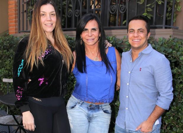 Simony, Gretchen e Thammy (Foto: Thiago Duran/AgNews)