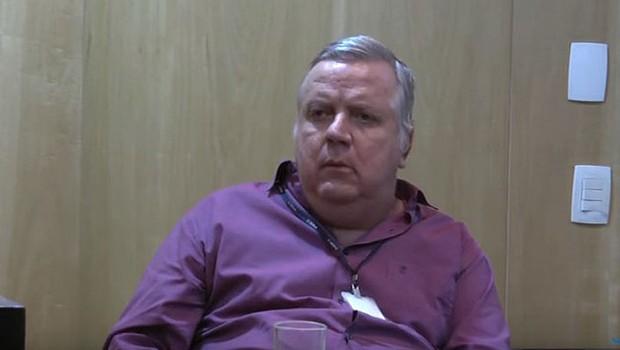 O ex-vice-presidente da empreiteira Odebrecht, Henrique Valladares, em vídeo gravado durante processo de delação premiada (Foto: Reprodução/YouTube)