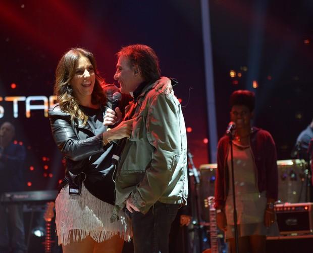 Fábio Jr e Ivete Sangalo ensaio (Foto: Camila Serejo/ TV Globo)