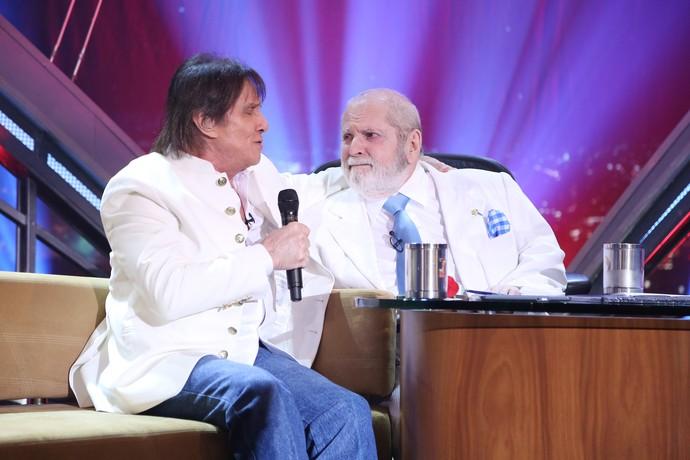 O encontro com Roberto Carlos foi pura emoção (Foto: Carol Caminha/Gshow)