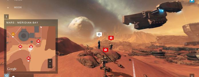 Destiny Planet View coloca o universo de Destiny no melhor estilo Street View (Foto: reprodução/The Next Web)