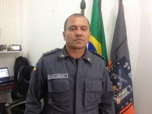 Tenente Coronel, Laurelino Conceição diz que roubo foi planejado (Foto: Cassio Albuquerque/G1)