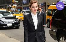 Look do dia: Emma Watson usa terninho para programa de TV