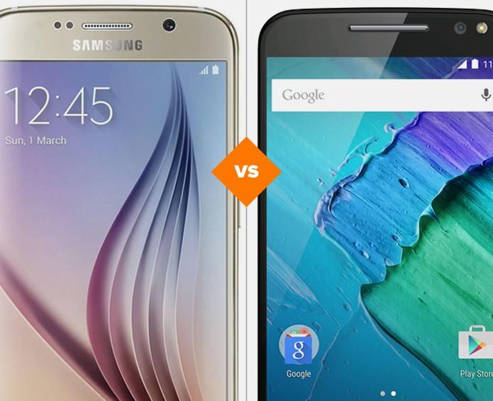 Galaxy S6 ou Moto X Style: batalha de desempenho contra bateria (Foto: Arte/TechTudo)