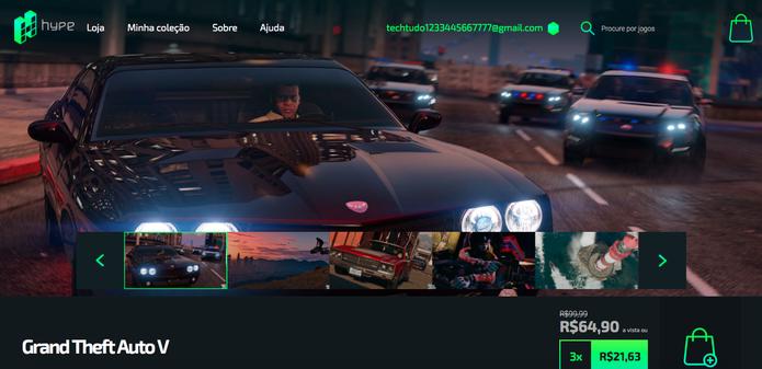 Como usar o Hype, nova loja brasileira de jogos online (Foto: Reprodução/Felipe Vinha)