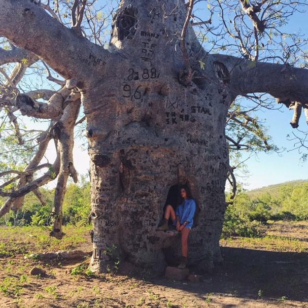 Mariana Goldfarb na Austrália (Foto: Arquivo Pessoal)