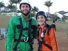 Adrenalina! Veja os bastidores do desafio com Dudu Azevedo e Adriana Birolli