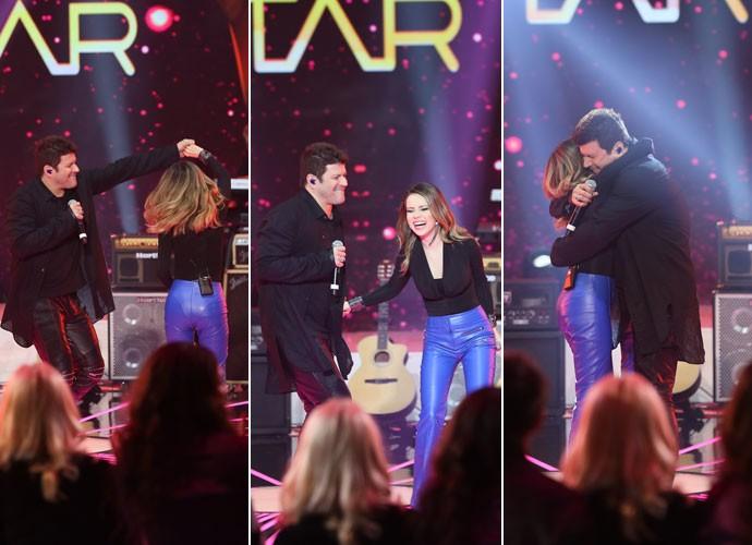 No musical, Sandy e Paulo Ricardo dançam e se divertem muito (Foto: Isabella Pinheiro/ Gshow)