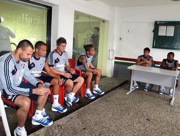 jogadores na reapresentação do Fluminense (Foto: Edgar Maciel de Sá / Globoesporte.com)