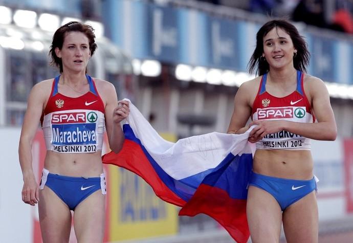 Irina Maracheva, atleta russa, punida por doping (Foto: REUTERS/Tobias Schwarz)