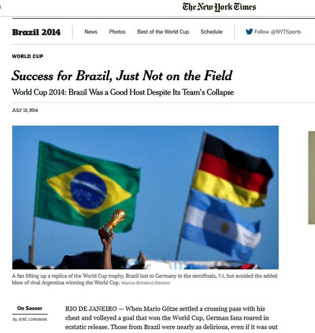 The New York Times disse que o Brasil foi um sucesso, menos dentro de campo