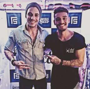 Diego Viriato e Lucas Lucco (Foto: Reprodução/Instagram)