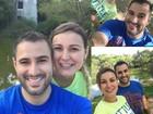 Andressa Urach e o marido, Tiago Costa, trocam declarações de amor