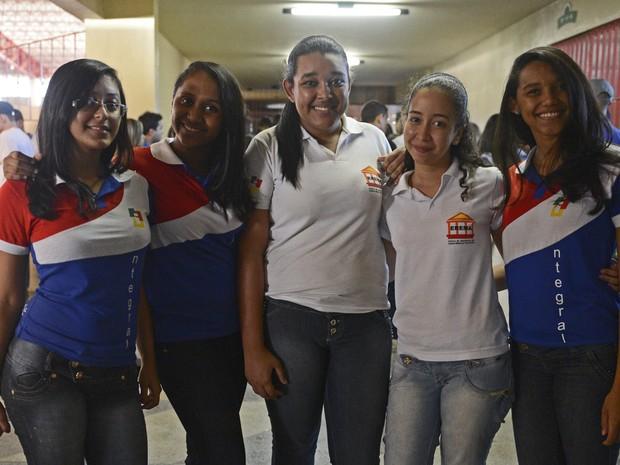 Estudantes vieram de várias cidades para participar do aulão do Projeto Educação (Foto: Diego Moraes / G1)