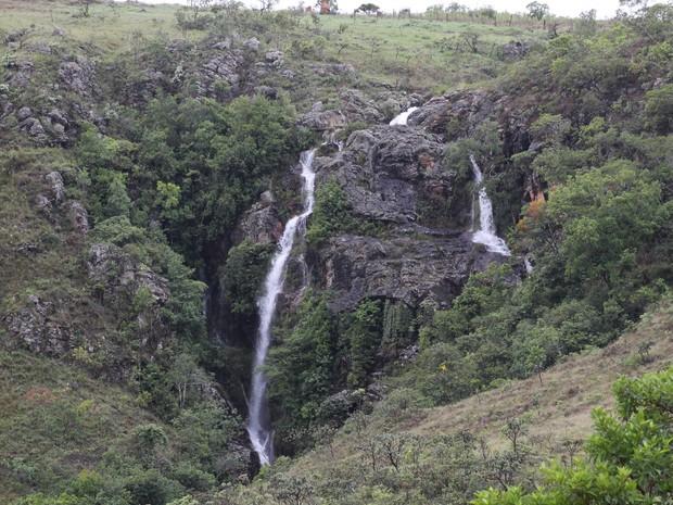 Cachoeira Lava Pés Serra da Canastras (Foto: Jean Alves/Arquivo Pessoal)