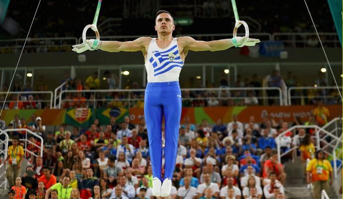 Eleftherios Petrounias argolas ginástica olimpíadas (Foto: Agência Reuters)