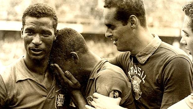 pelé didi gilmar brasil suécia 1958 (Foto: Divulgação / Globoesporte.com)