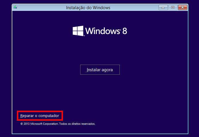 Iniciando recuperação do Windows (Foto: Reprodução/Helito Bijora)