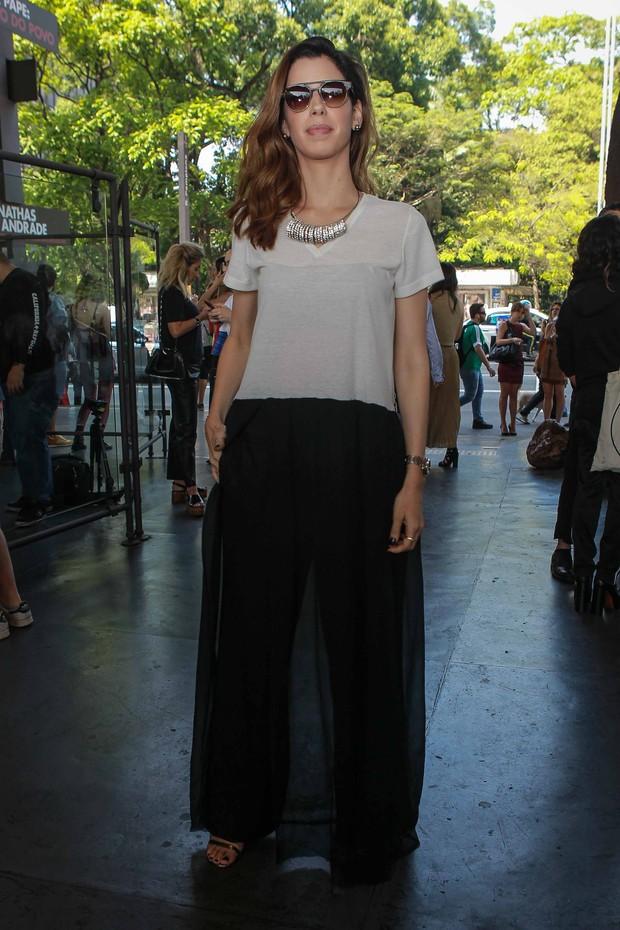 Camila Coelho na SPFW (Foto: Raphael Castello/AgNews)