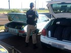 PRF apreende veículos carregados com 60 pneus contrabandeados