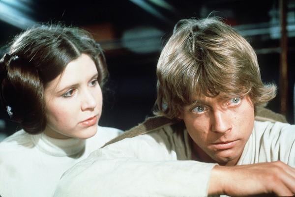Mark Hamill e Carrie Fisher em 'Star Wars' (1977) (Foto: Reprodução)