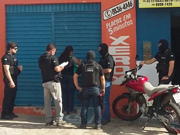 Ação foi deflagrada simultaneamente em três cidades do Maranhão e Piauí (Foto: Divulgação/SSPMA)