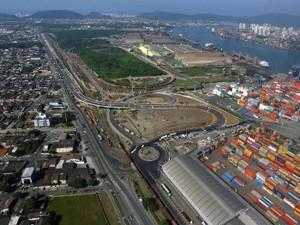 Acesso ao Porto de Santos, no lado de Guarujá (Foto: Divulgação/Codesp)