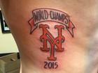 Torcedor faz 'tattoo' de Mets campeão no beisebol, mas equipe perde título
