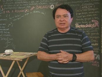 Professor Vicente Gomes falou dos pontos em português (Foto: Reprodução / TV Globo)