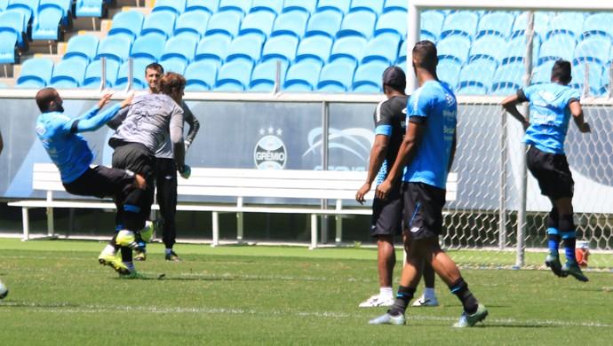 Edinho Tiago Grêmio (Foto: Eduardo Moura/GloboEsporte.com)
