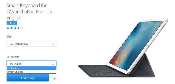 Teclado inteligente pode ser encontrado em dois modelos (Foto: Reprodução/site da Apple UK) (Foto: Teclado inteligente pode ser encontrado em dois modelos (Foto: Reprodução/site da Apple UK))