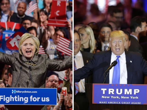 Eleições nos EUA: Trump vence cinco primárias; Hillary leva três