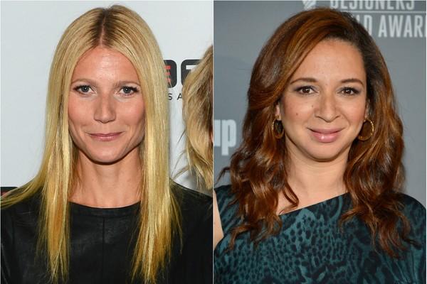 Gwyneth Paltrow e Maya Rudolph se conheceram na escola quando eram crianças e as famílias das duas atrizes ficaram muito próximas  (Foto: Getty Images)