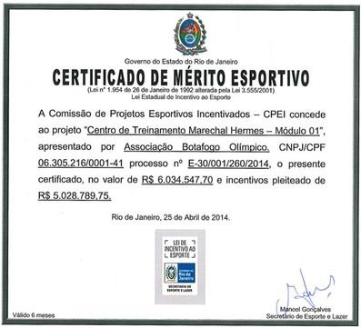 Projeto investimento CT Marechal Hermes Botafogo (Foto: Reprodução)